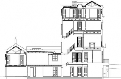P734 Cumberland Terrace cross section
